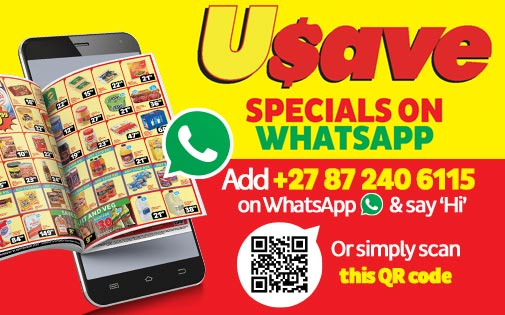 USAVE SPECIALS ON WHATSAPP